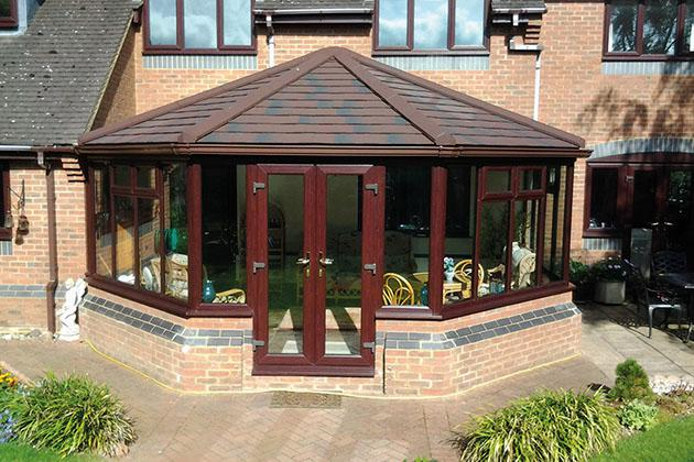 Solid tile conservatory roof fitter, Northampton