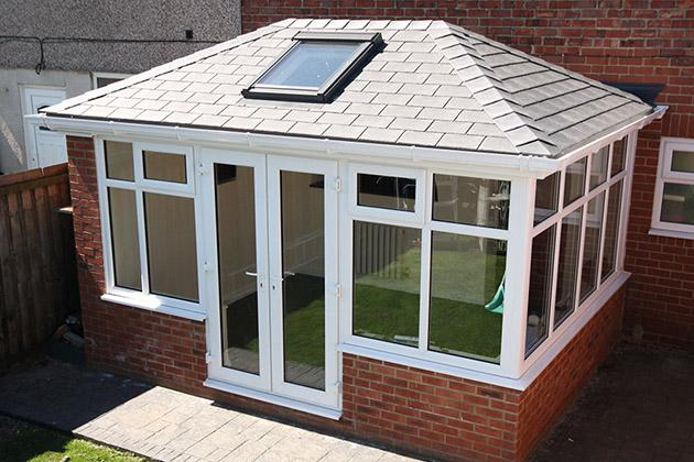 Replacement conservatory tiled roof, Northampton